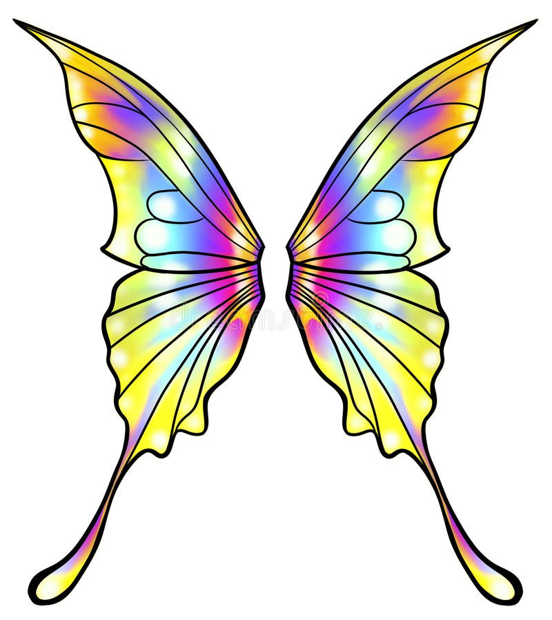 Fairy or butterfly wings isolated vector illustration