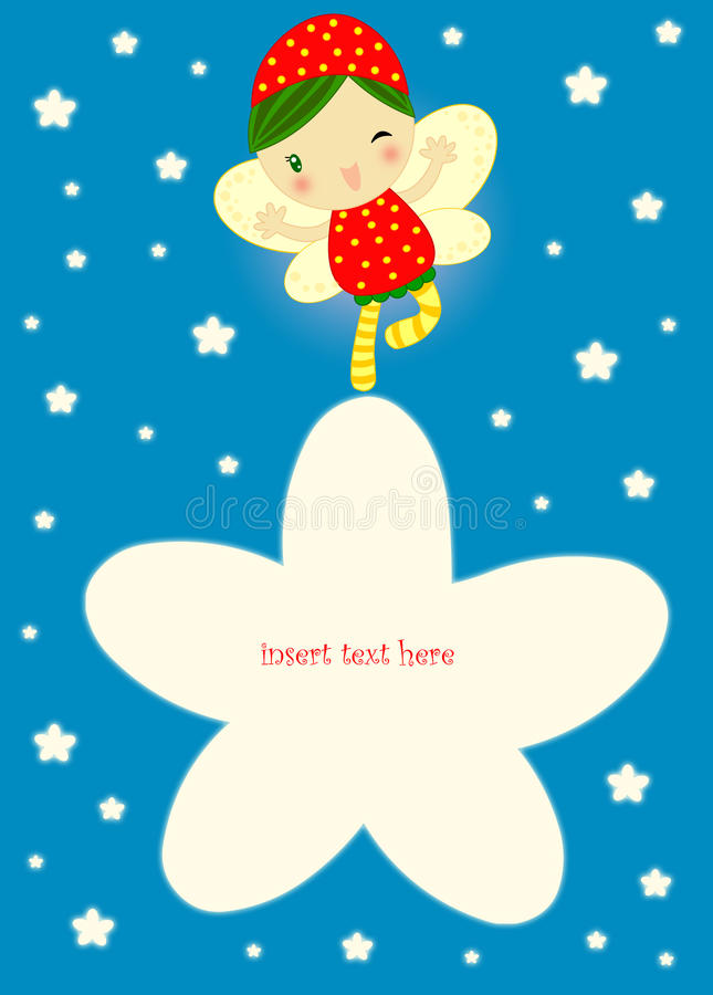 Download Fairy card to fill stock illustration. Illustration of computer - 17787733