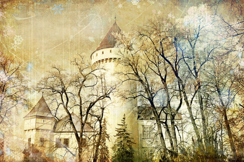 Fairy castle stock photography