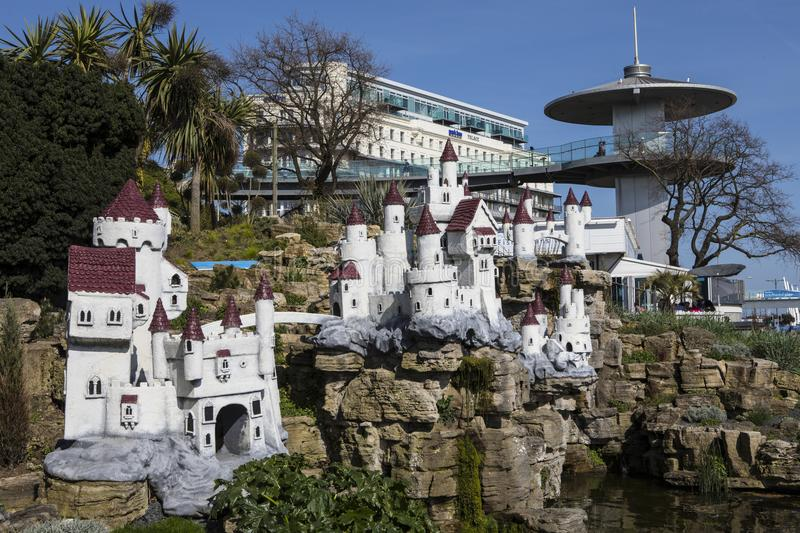Fairy Castle in Southend-on-Sea. SOUTHEND-ON-SEA, ESSEX - APRIL 18TH 2018: The Fairy Castle in the Southend Cliff Gardens in Southend-on-Sea, Essex, UK, on 18th royalty free stock photos