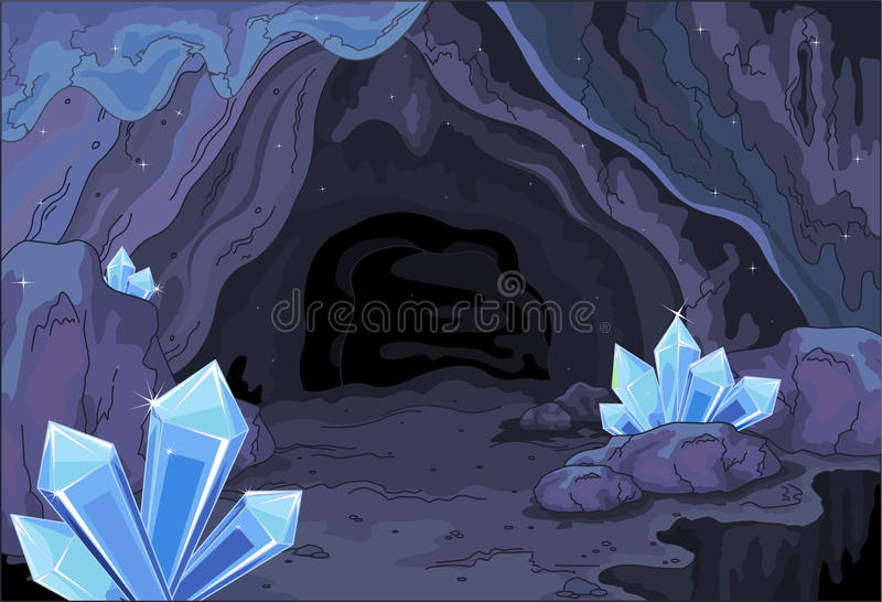 Fairy cave. Illustration of a fairy cave royalty free illustration
