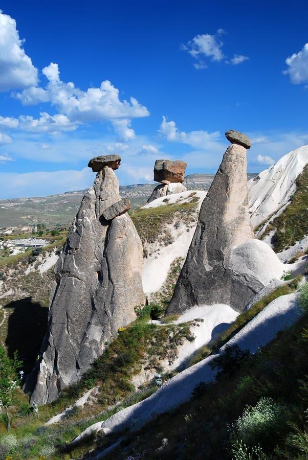 Fairy chimneys Cappadocia (Turkey) royalty free stock photos