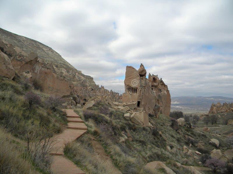 Fairy chimneys, Cappadocia, Turkey stock photography