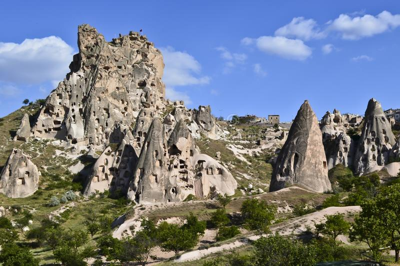 Fairy chimneys A hoodoo, also called a tent rock royalty free stock photo