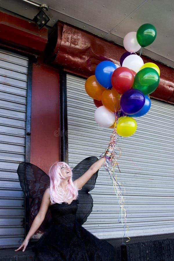 Fairy com balões fotos de stock royalty free