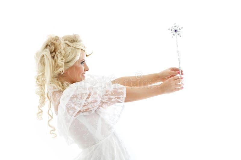 Fairy con la bacchetta magica fotografie stock libere da diritti