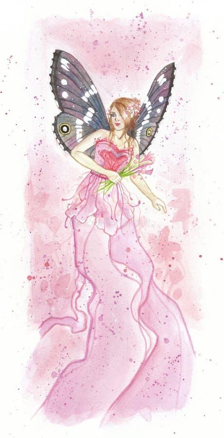 Fairy cor-de-rosa ilustração royalty free