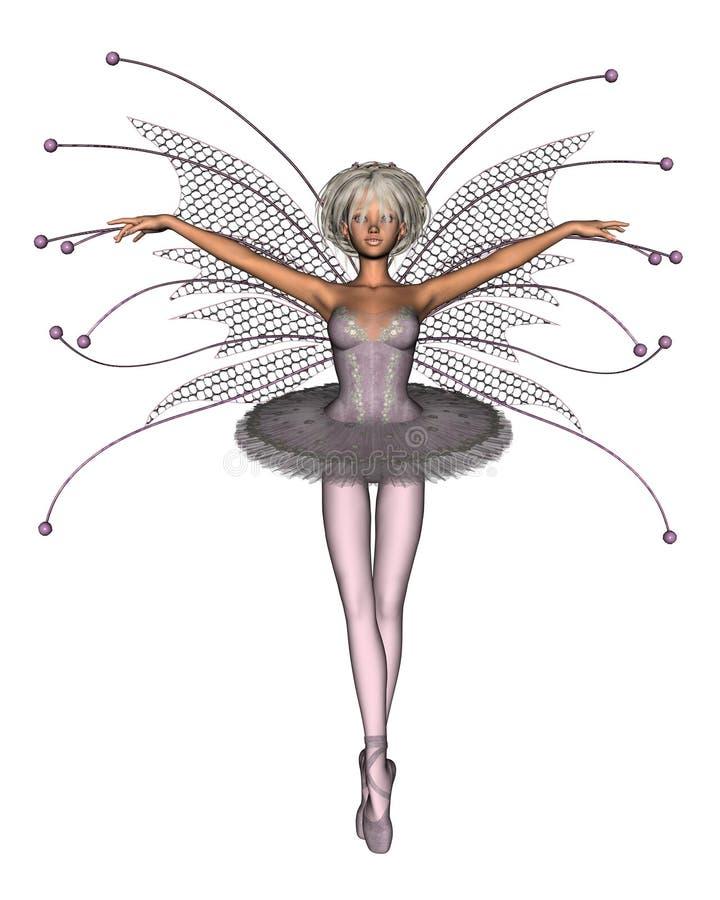 Fairy cor-de-rosa da bailarina ilustração royalty free