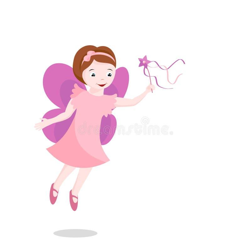 Fairy cor-de-rosa pequeno ilustração stock