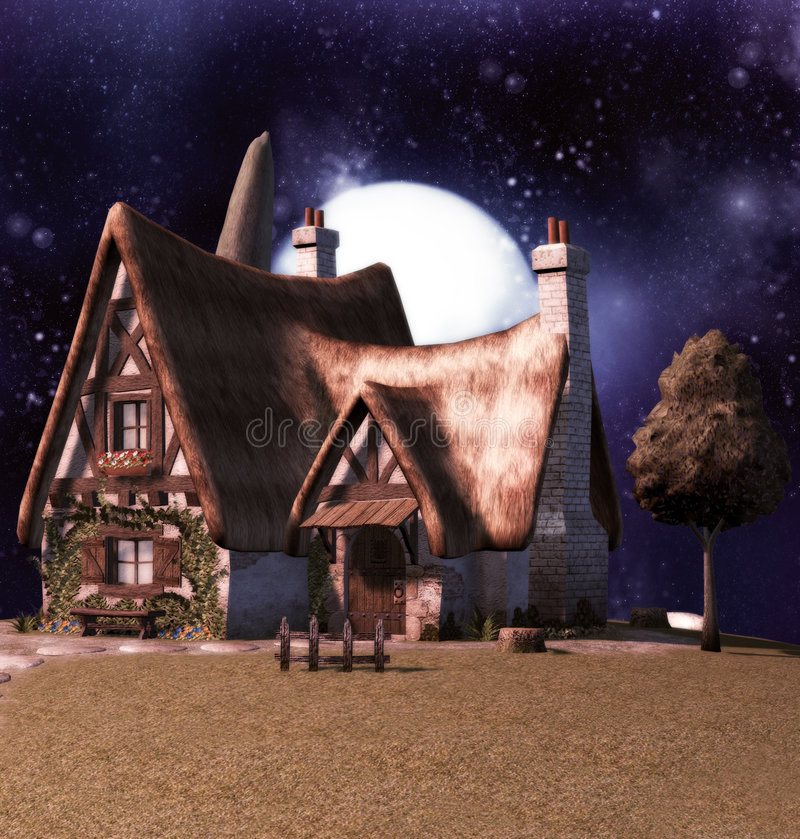 Download Fairy Cottage stock illustration. Image of sparkle, poser - 5422392