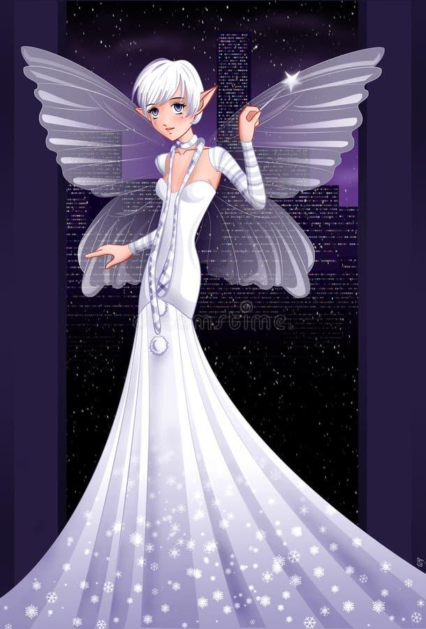 Fairy da neve ilustração stock