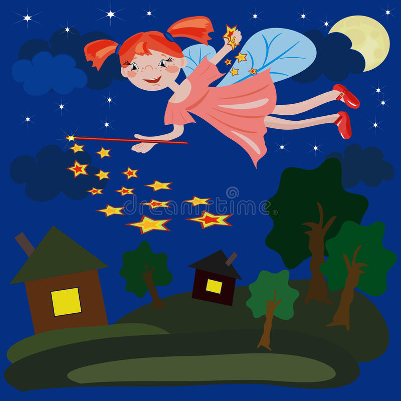 Fairy da noite ilustração royalty free