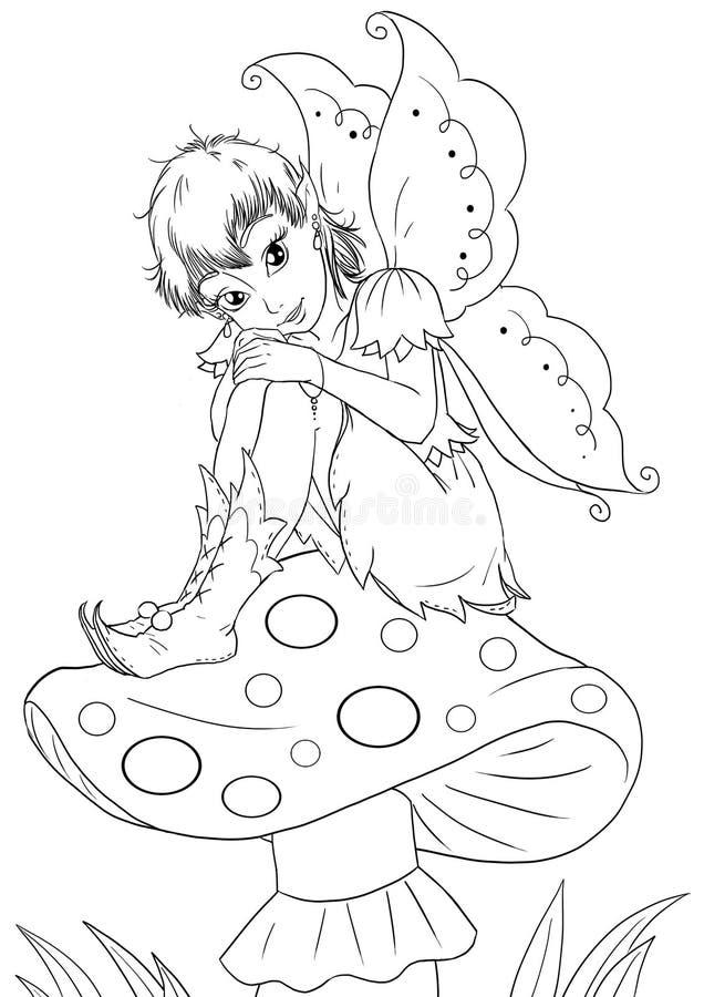 Fairy de assento ilustração royalty free