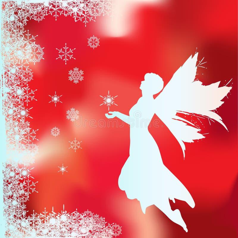 Fairy de Chrismas ilustração stock