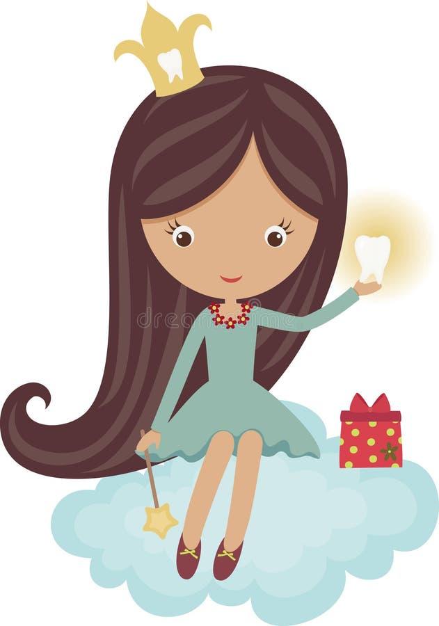 Fairy de dente ilustração do vetor