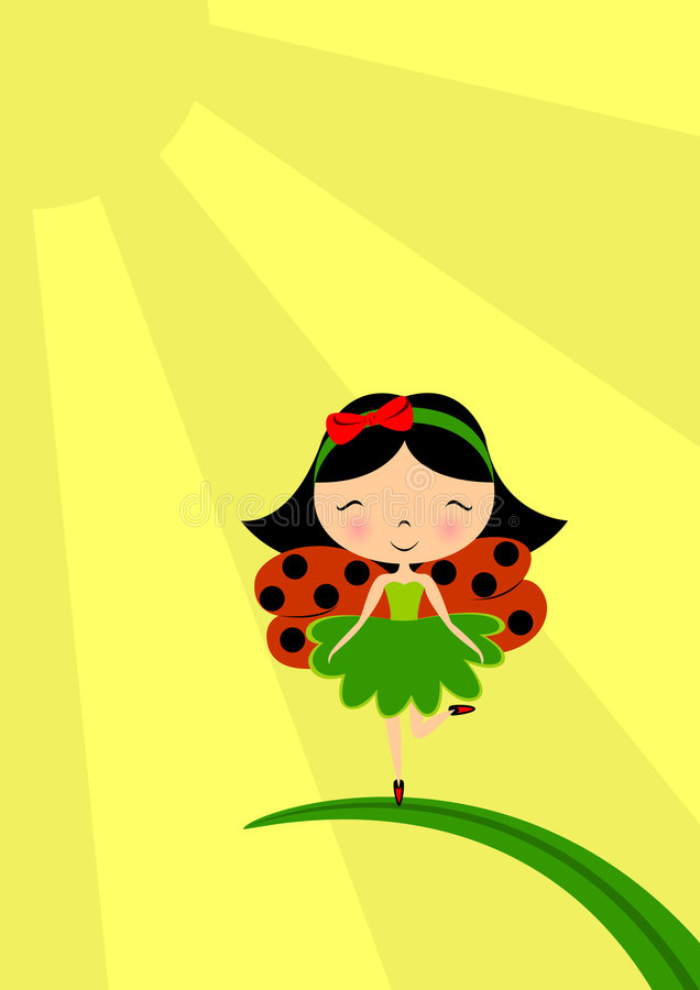 Fairy del Ladybug royalty illustrazione gratis