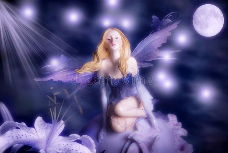 Fairy dell'elfo di notte immagine stock
