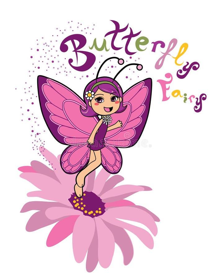 Fairy della farfalla illustrazione vettoriale