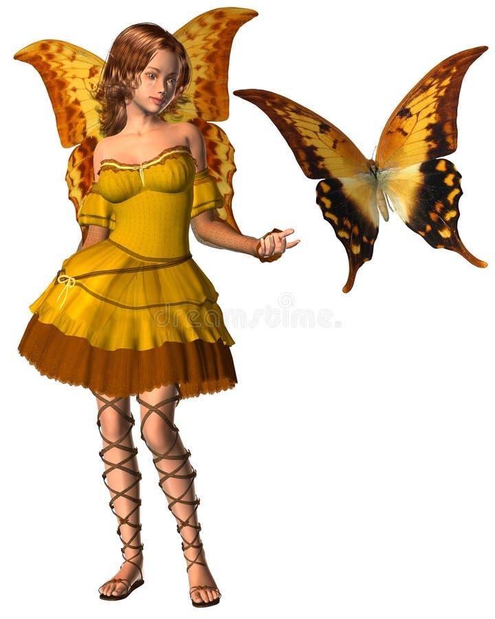 Fairy della farfalla di Swallowtail - 1 illustrazione vettoriale