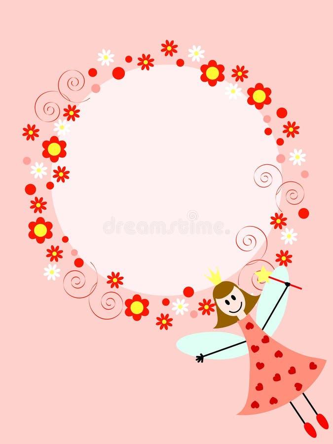Fairy dentellare nel cerchio illustrazione di stock