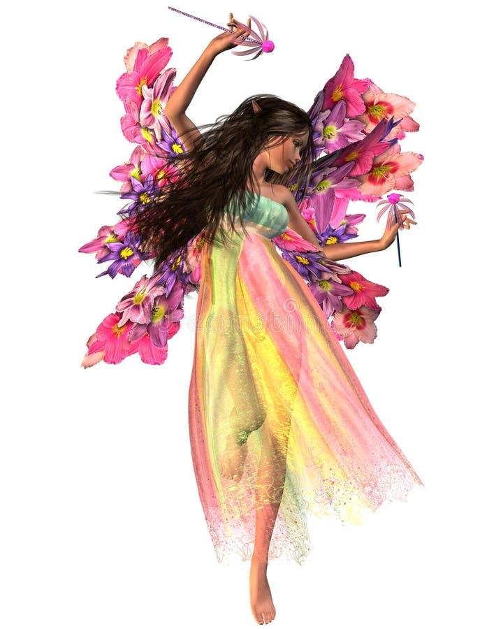 Fairy di carnevale del fiore illustrazione vettoriale