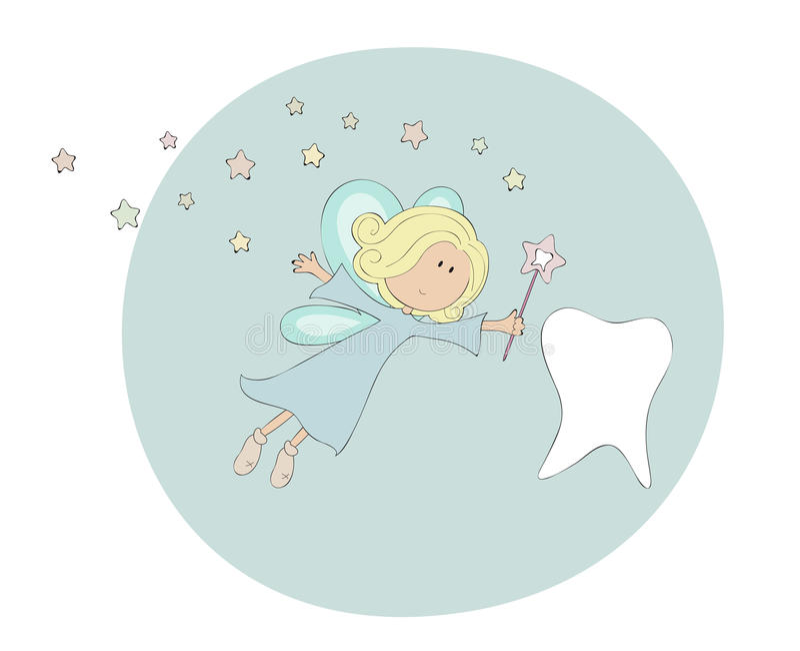 Fairy di dente illustrazione vettoriale