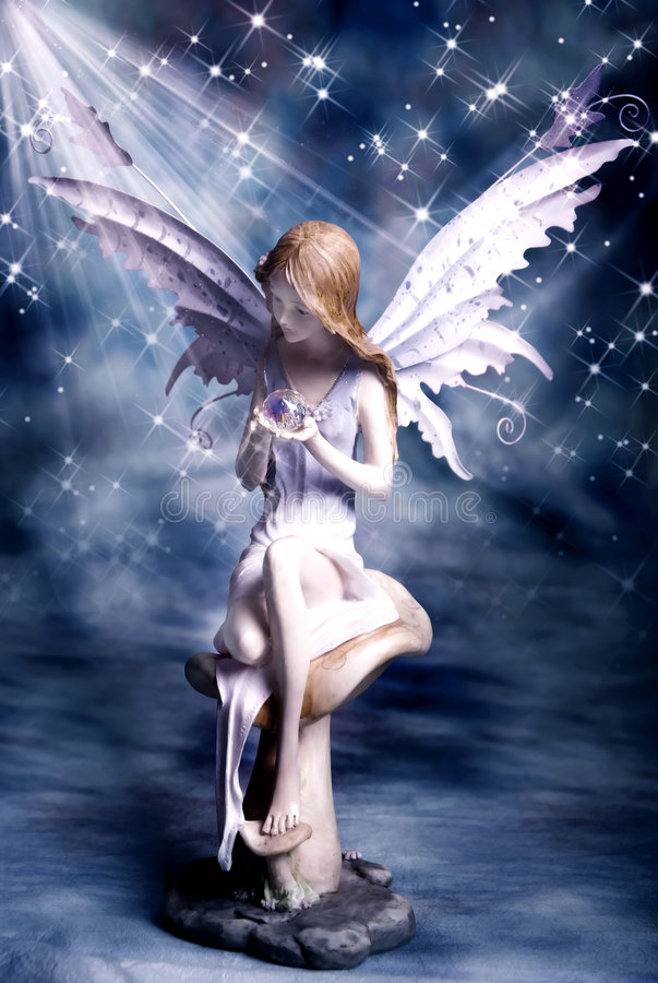 Fairy di magia di notte immagini stock libere da diritti