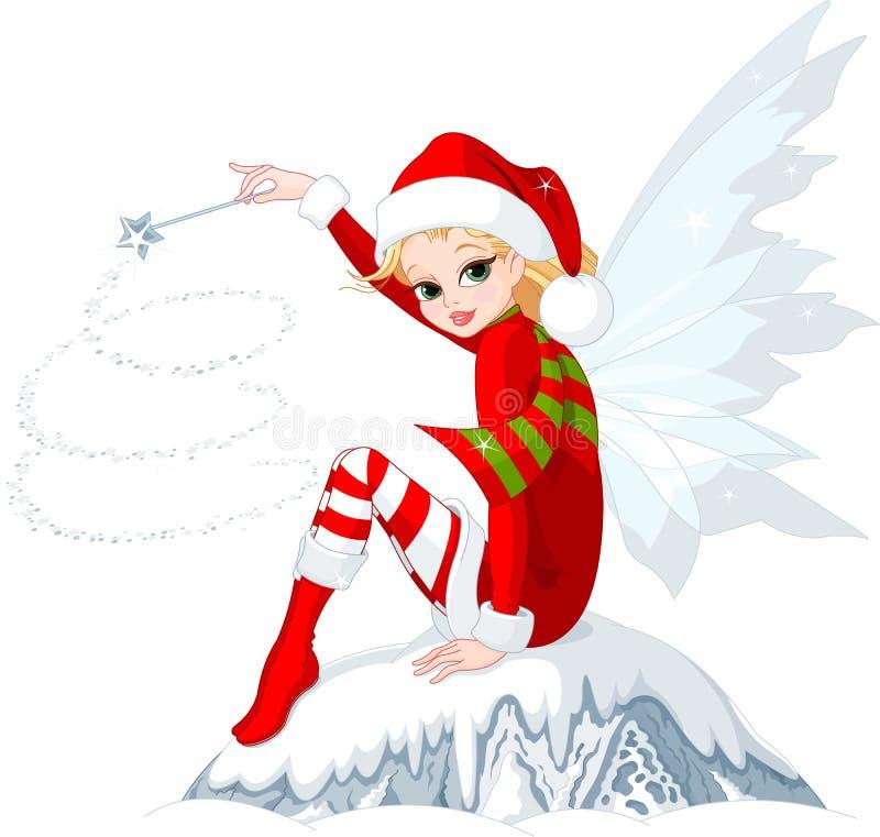 Fairy di natale illustrazione vettoriale