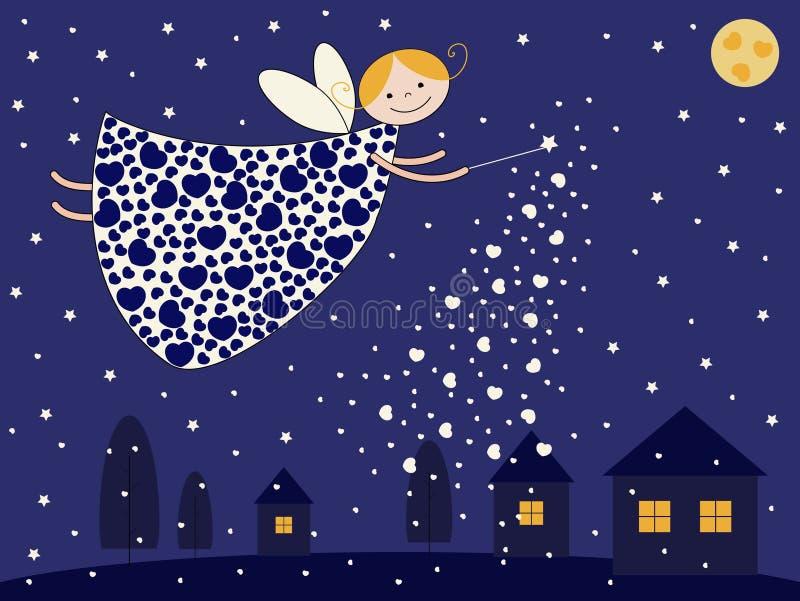 Fairy di notte illustrazione di stock