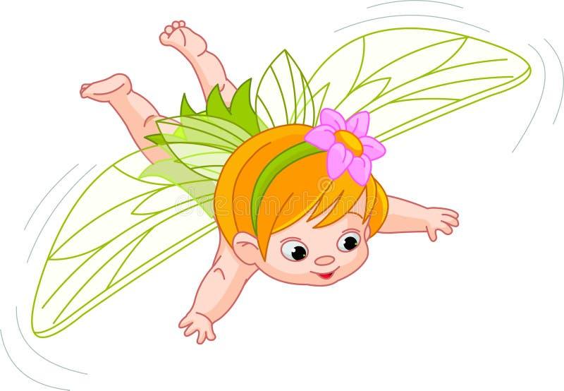 Fairy do bebê no vôo ilustração do vetor