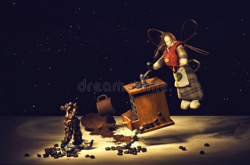 Fairy do café. fotografia de stock royalty free