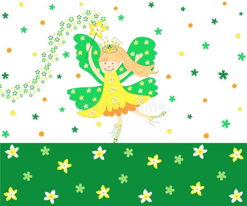 Fairy do Daffodil ilustração do vetor
