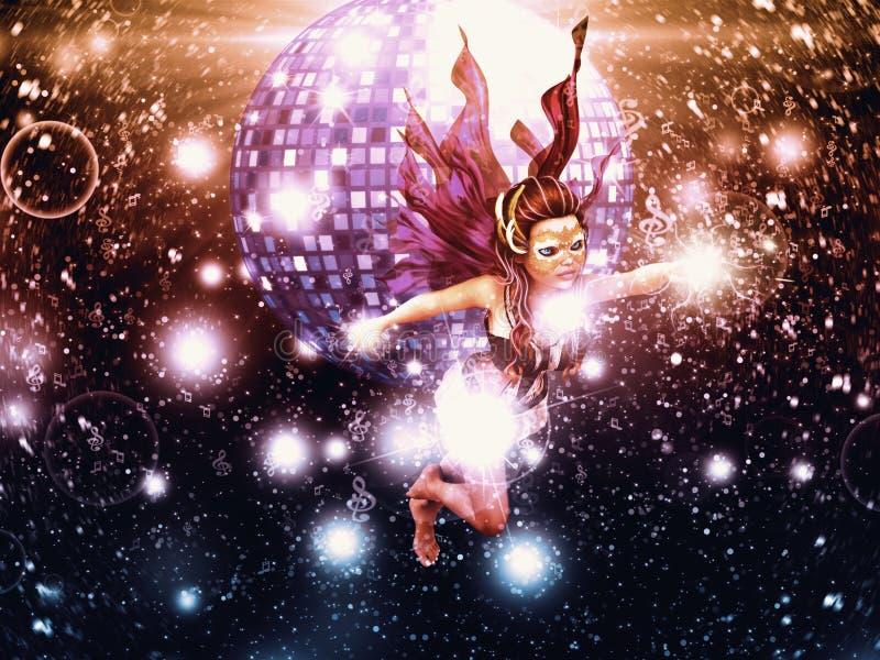 Fairy do disco ilustração royalty free