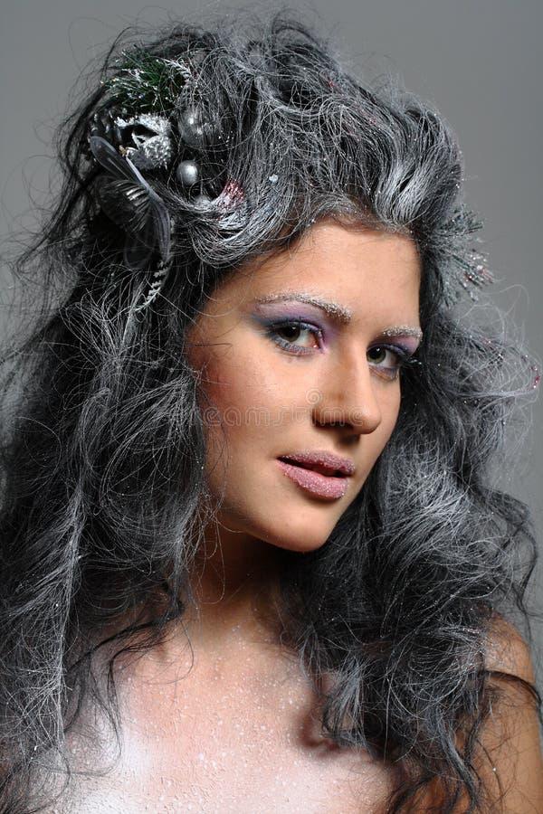 Fairy do inverno fotografia de stock