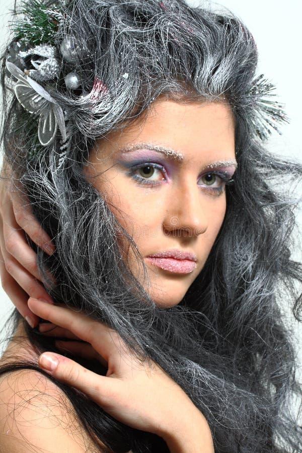 Fairy do inverno fotografia de stock royalty free