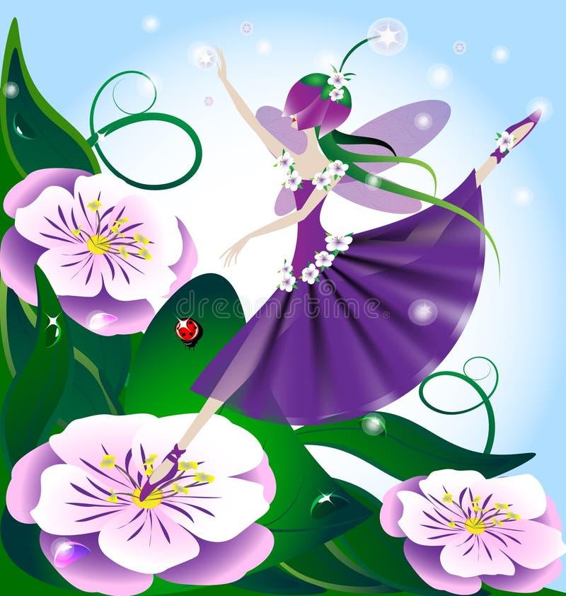 Fairy do Lilac ilustração stock