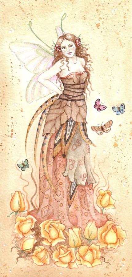 Fairy do outono ilustração do vetor