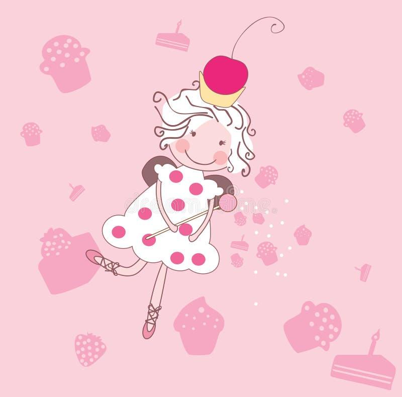 Fairy do queque ilustração royalty free