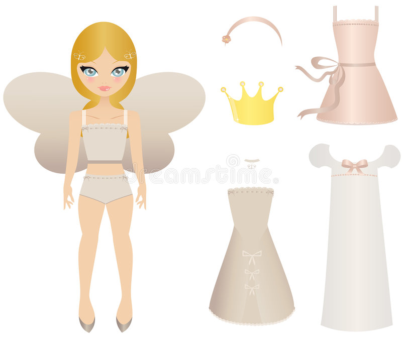 Fairy doll stock illustration
