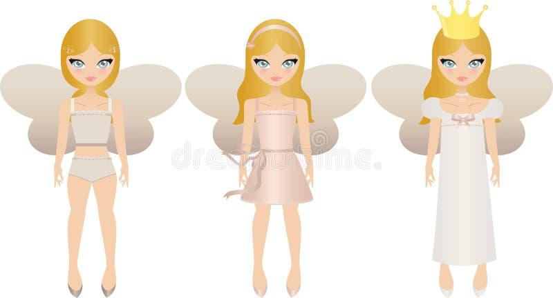 Fairy dolls vector illustration