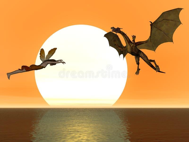Fairy Dragon stock photo