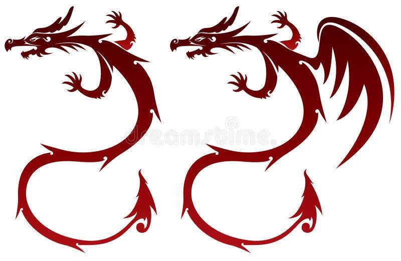 Fairy Dragon illustration stock illustration