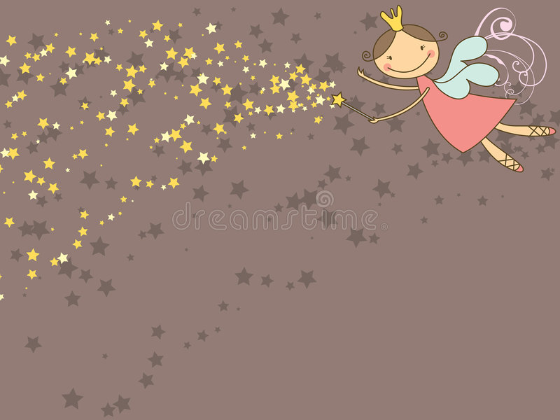 Fairy e estrelas doces ilustração do vetor