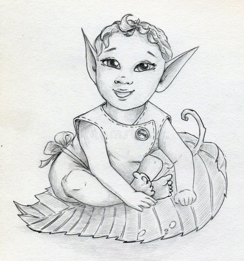 Download Fairy elf baby stock illustration. Image of creature - 33791177