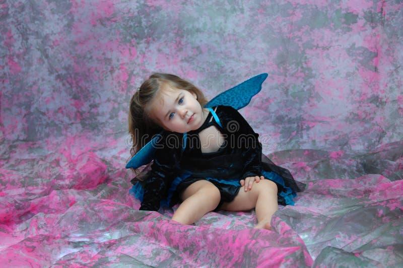 Fairy Eyed blu immagini stock libere da diritti