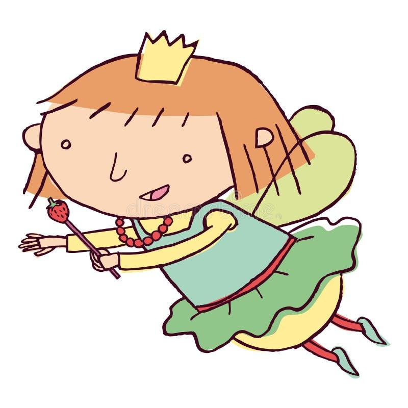 Fairy flying royalty free illustration