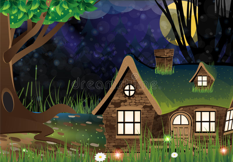 Fairy forest lodge royalty free illustration