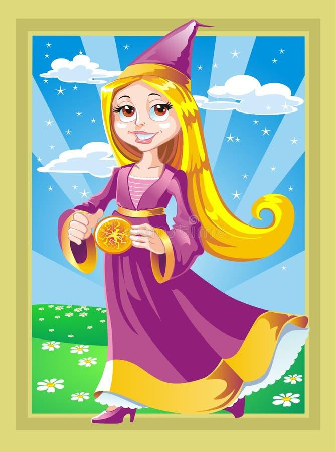 Fairy freddo con il bolide illustrazione di stock