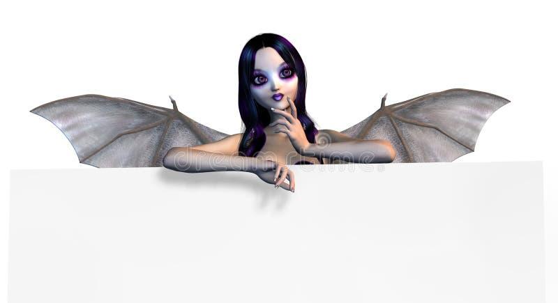 Fairy gótico na borda do sinal - inclui o trajeto de grampeamento