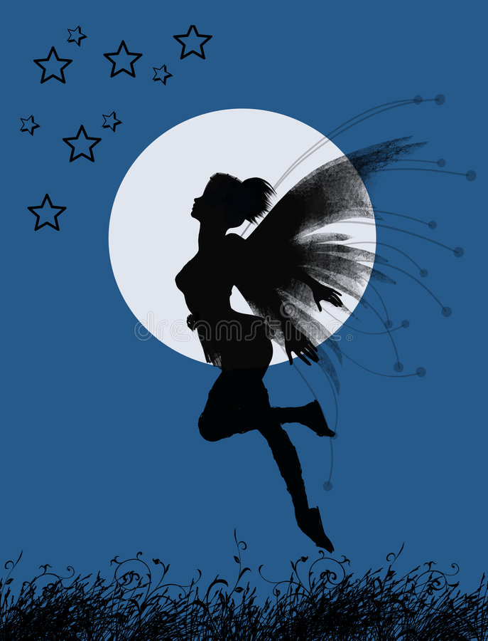 Fairy girl vector illustration